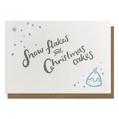 Snow Flakes and Christmas Cakes Card