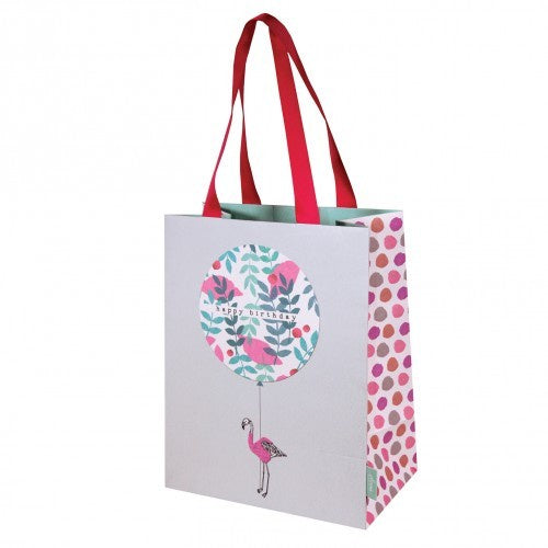 Flamingo Happy Birthday Medium Gift Bag