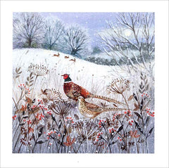 Pheasants Christmas Fayre Pack of Cards