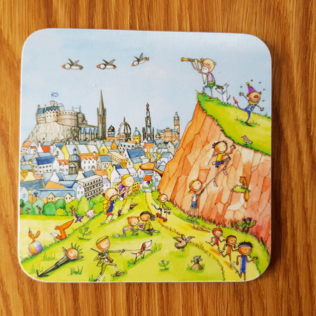 A View of Salisbury Crags Gingerpaws Coaster