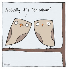 Owl To Whom Card