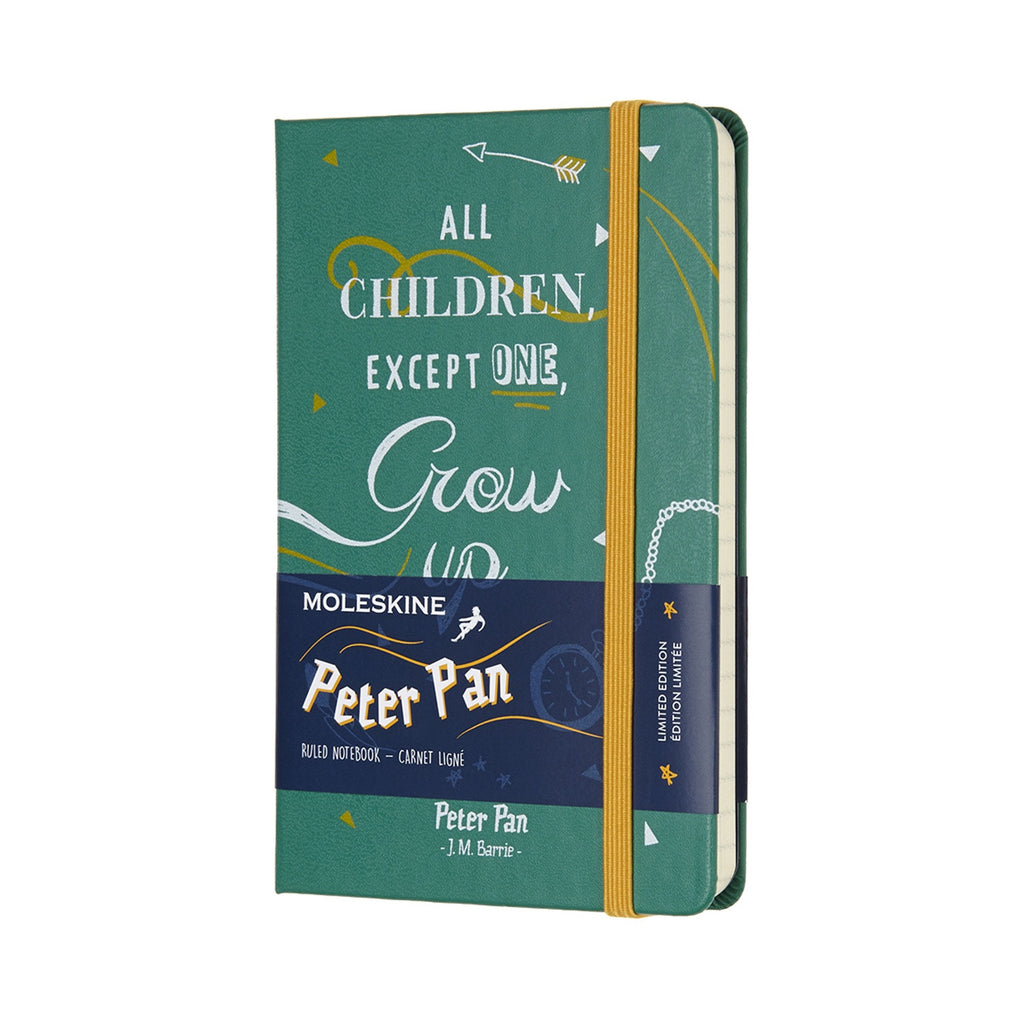 Limited Edition Peter Pan Pocket Ruled Moleskine Notebook Malachite Green