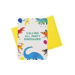 Pack of 8 Dinosaur Party Invitations