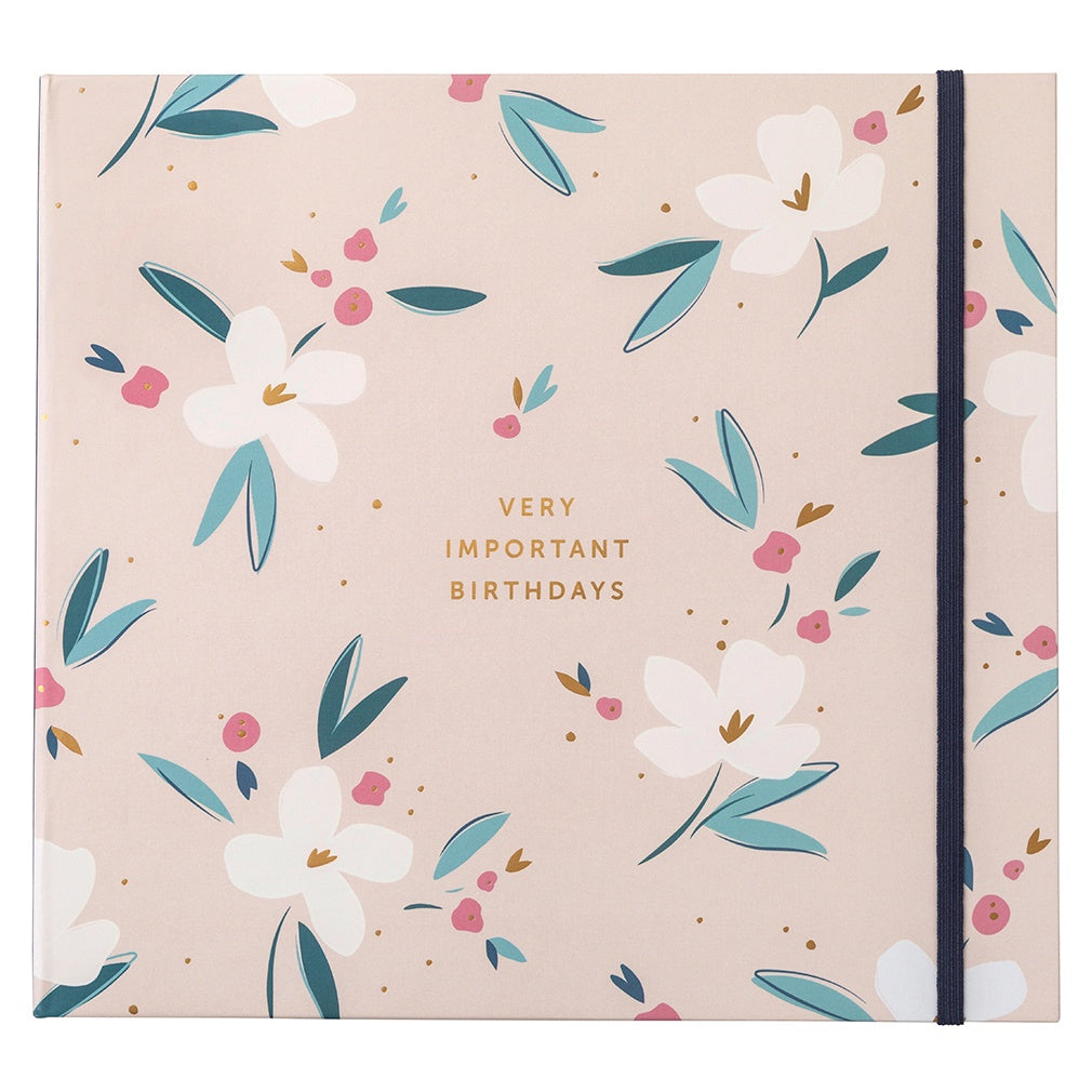 Floral Birthday Card Book
