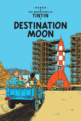 Destination Moon Tintin Postcard