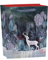 Silver Stag Medium Gift Bag