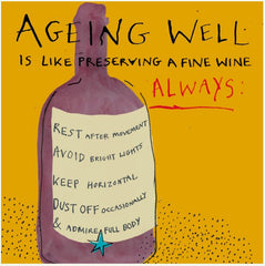 Ageing Fine Wine Birthday Card