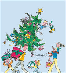Quentin Blake Festive Fun Charity Pack of 5 Cards