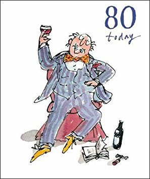80 Today Quentin Blake Birthday Card for him