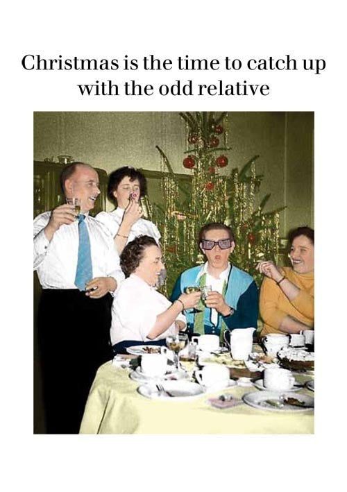 Odd Relative Christmas Card
