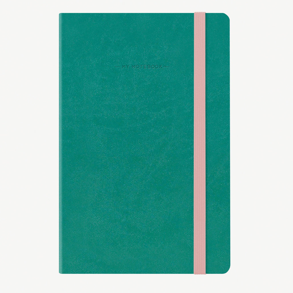 Medium Dotted Turquoise Notebook