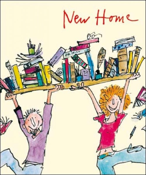 Book Shelf Quentin Blake New Home Card