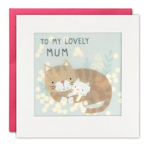 To My Lovely Mum Cats Shakies Card