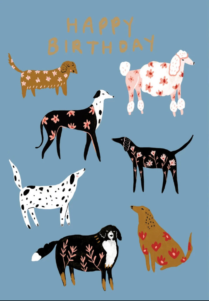 Porcelain Dogs Birthday Card