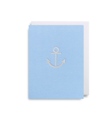 Blue and Silver Anchor Card