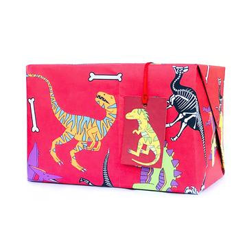 Red Dinosaur Wrapping Paper