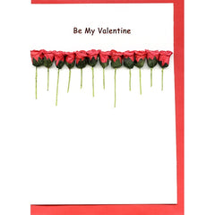 12 Rose Line Valentine's Card