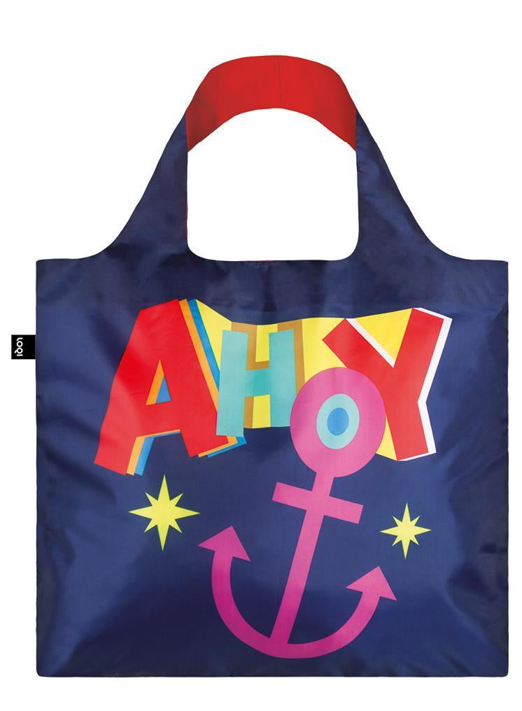 Loqi Nautical Ahoy Reusable Bag
