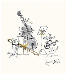 Playing The Cello Quentin Blake Card