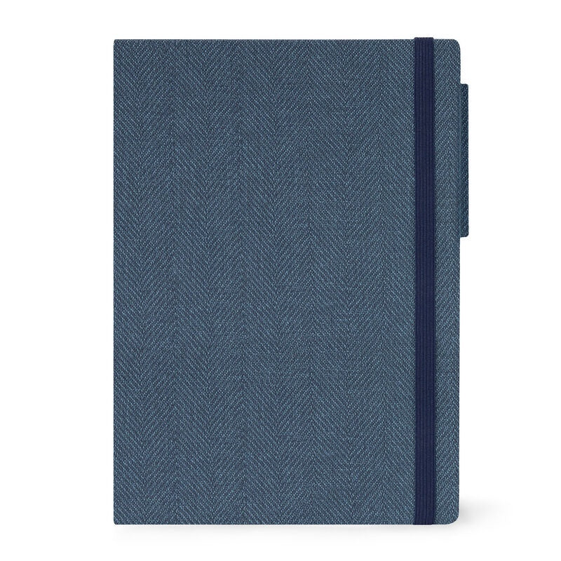Large Daily Diary 2021 Blue Tweed