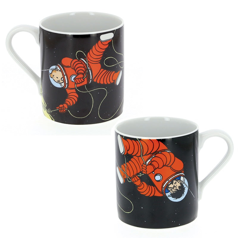 Tintin and Haddock Moon Mug