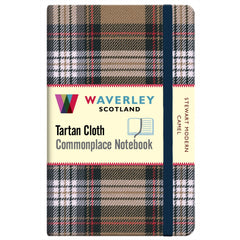 Tartan Cloth Notebook - Stewart Modern Camel