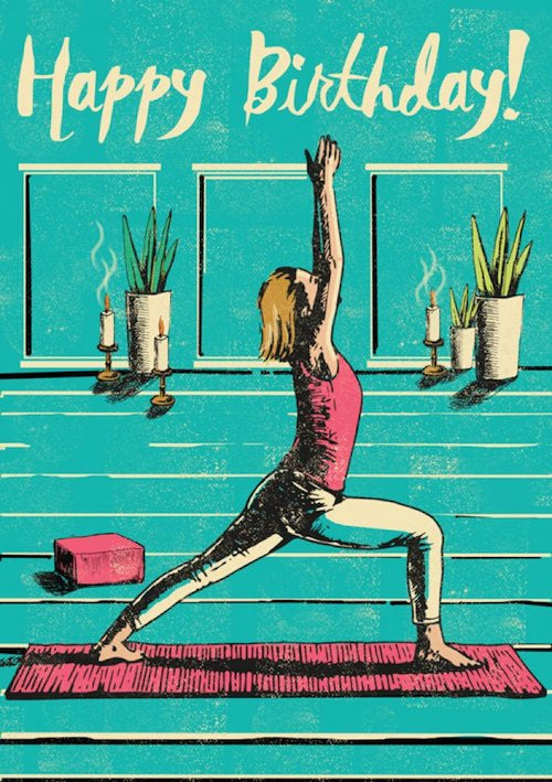 Happy Birthday Yoga Card