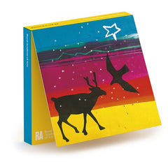 Barbara Rae Deer and Bird Christmas Card Box