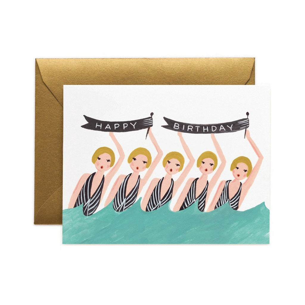 Synchronised Swimming Birthday Card