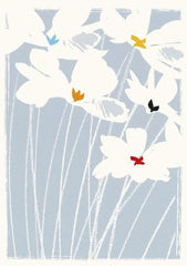 White Flowers Sympathy Card