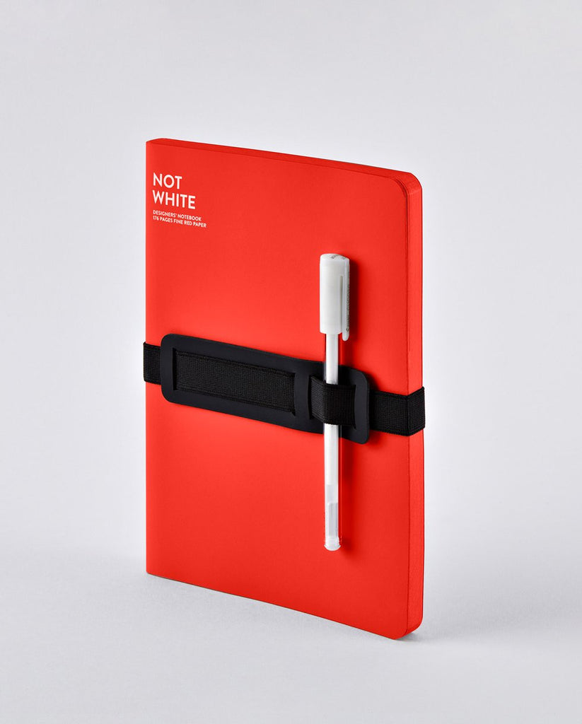 Nuuna Not White L Light Red Notebook
