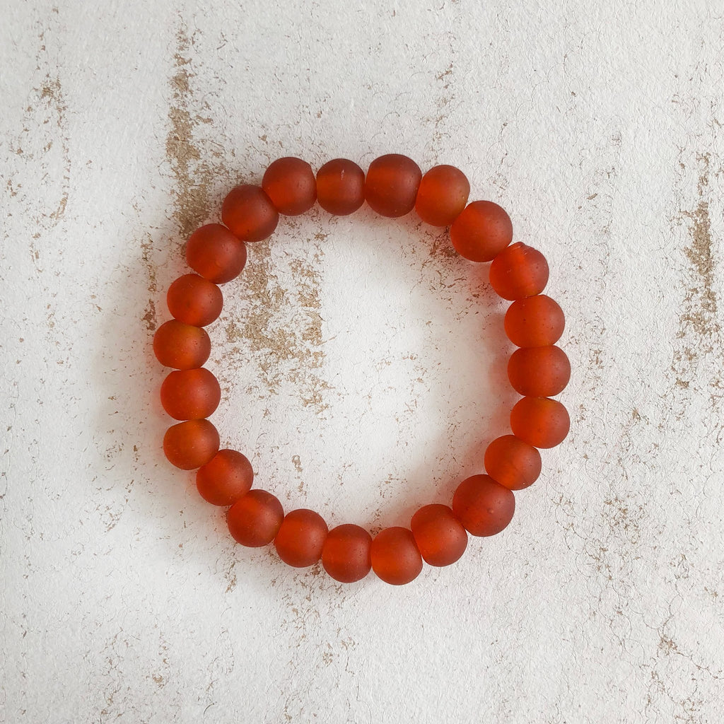 Nailo Translucent Amber Orange Bracelet