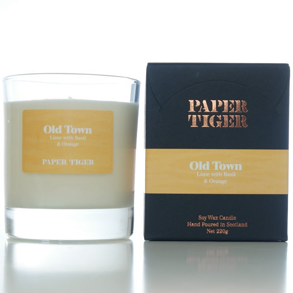 Paper Tiger Old Town Lime, Basil & Orange Large Candle