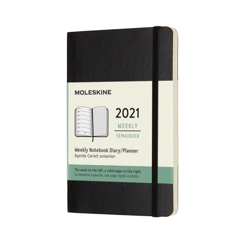 Moleskine 2021 Pocket Weekly Planner Softcover Black