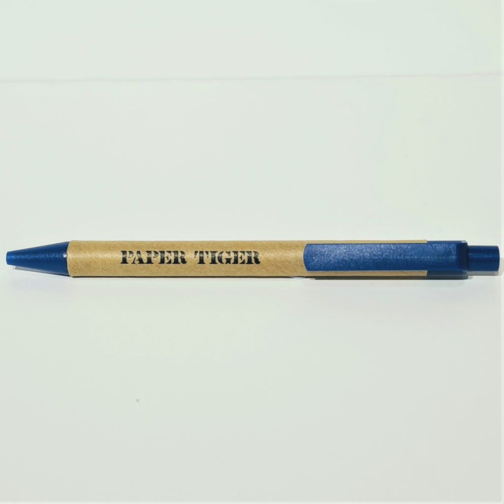 Paper Tiger Recycled Pen Blue