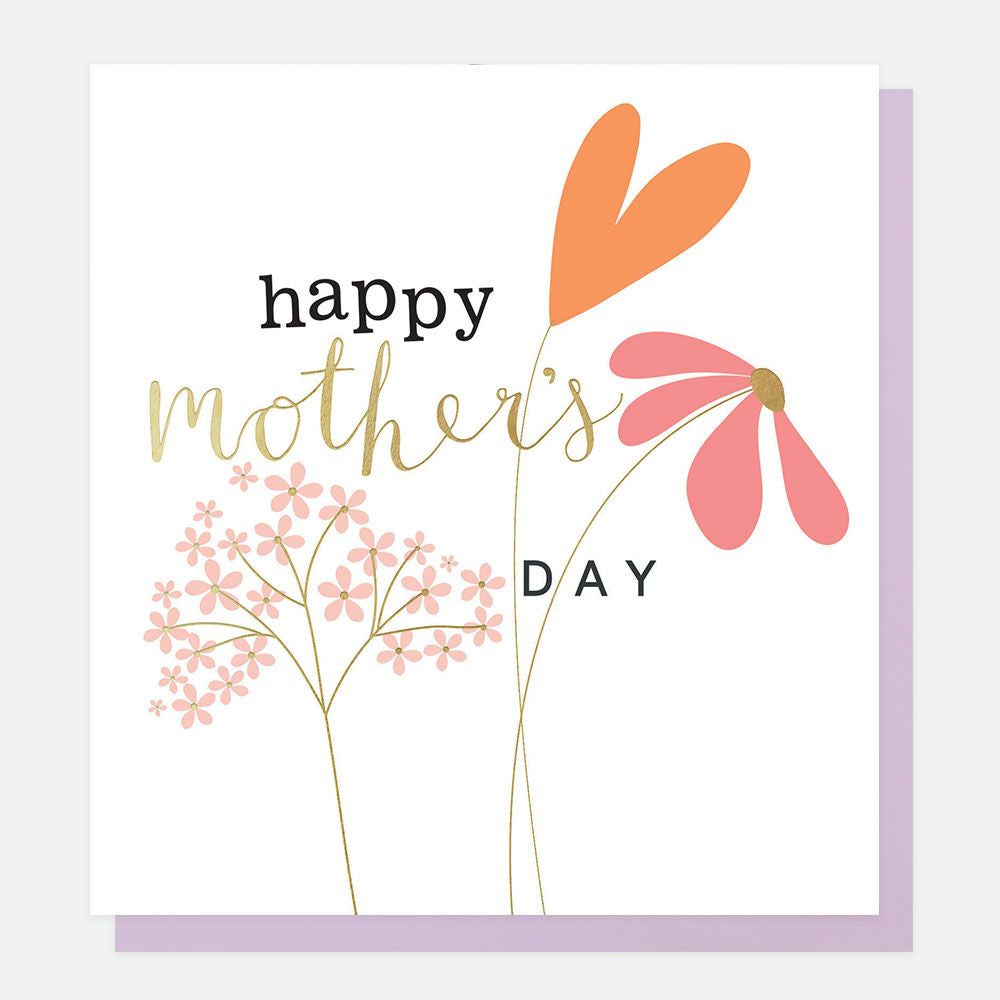 Happy Mothers Day Flowers Foil Card