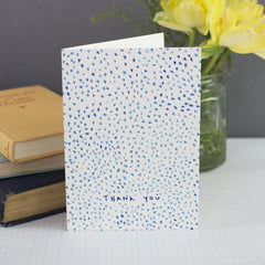 Mini Blue Hearts Thank You Card