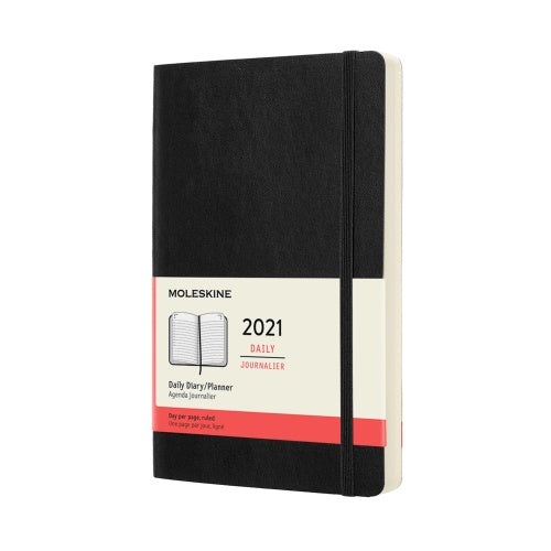 Moleskine 2021 Large Daily Planner Softcover Black