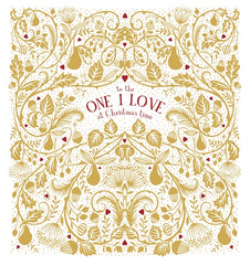 The One I Love At Christmas Time Foiled Card