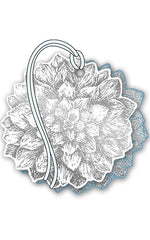 Floral Silver Foiled Pack of 4 Gift Tags