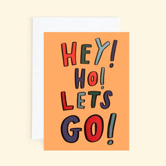 Hey! Ho! Lets Go! Card