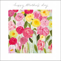 Happy Mother's Day Pink and Yellow Roses Card