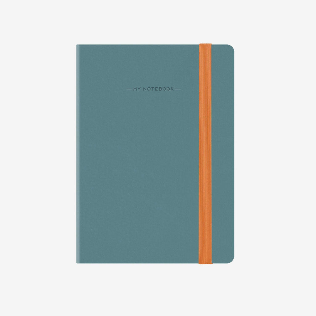 Small Lined Blue Grey Notebook