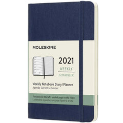2021-22 Weekly Planner Pocket Softcover Sapphire Blue