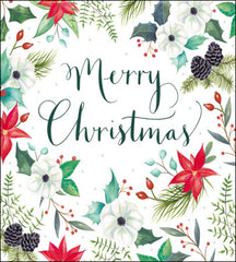 Festive Floral Box of 8 Christmas Cards