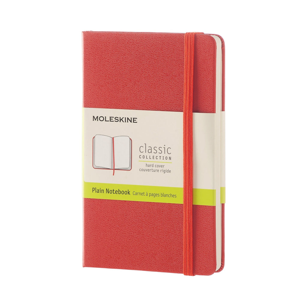Moleskine Plain Pocket Notebook Red