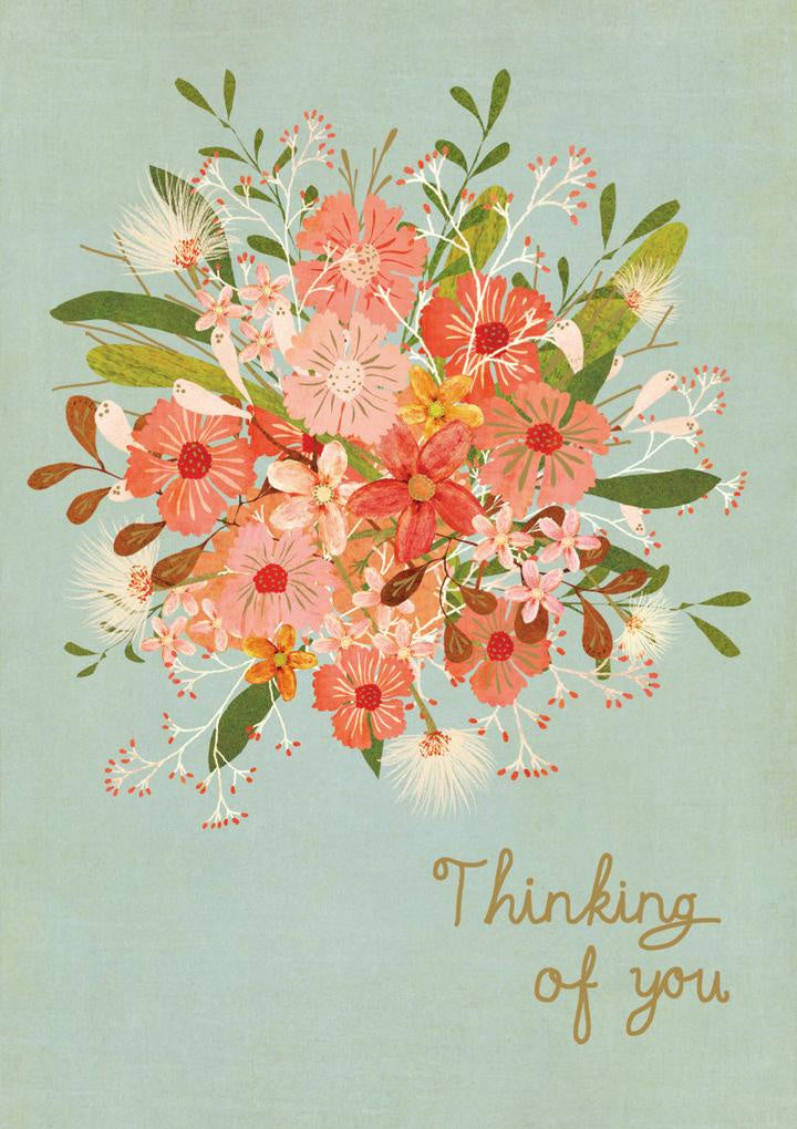 Floral Thoughts Thinking of You Card