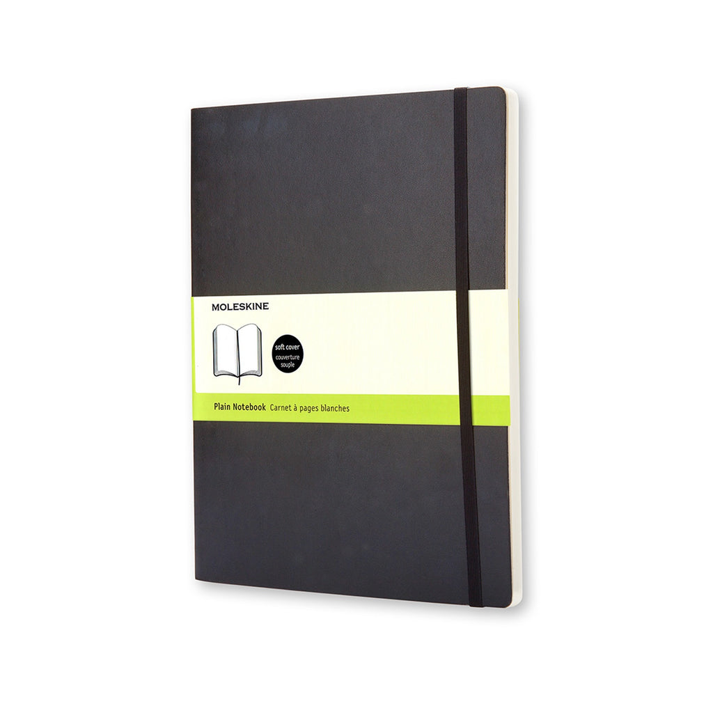 Moleskine XL Plain Soft Cover Notebook Black