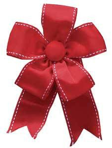 Ribbon Bow - Red Grosgrain