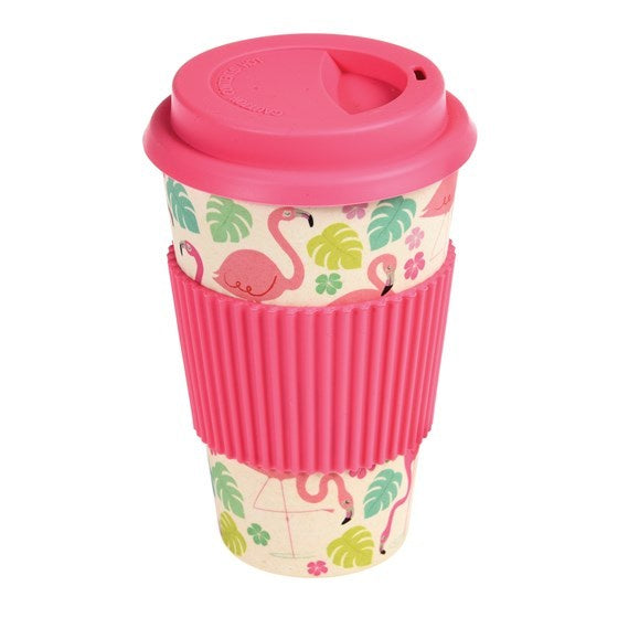 Flamingo Bay Bamboo Travel Mug